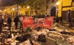 Trabajadores de limpieza llenaron de basura calles en protesta