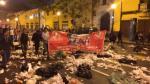 Trabajadores de limpieza llenaron de basura calles en protesta - Noticias de plaza camacho