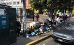 Calles llenas de basura en tercer día de huelga de trabajadores