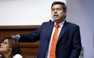 """Fujimorista Luis Galarreta cuestionó a quienes """"salieron en defensa"""" de Jaime Saavedra. Aclaró que el Congreso está ejerciendo su obligación constitucional al plantear una interpelación. (Vídeo: Canal del Congreso)"""