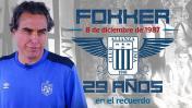 Fokker: Chemo atesora dos recuerdos de los aliancistas caídos