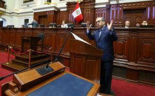 Jaime Saavedra aseguró ayer que no renunciará al Ministerio de Educación. (Foto: Congreso de la República)