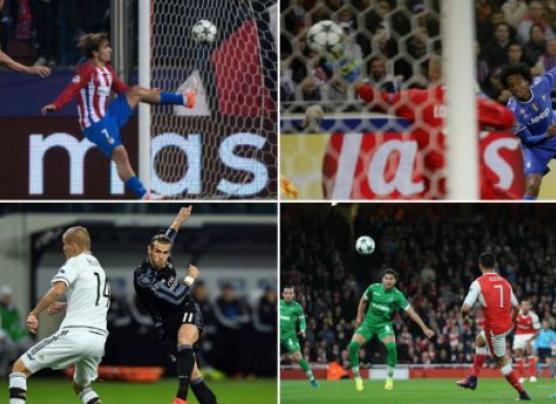 Champions League: mira los mejores goles de la fase de grupos