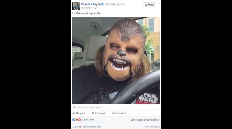 La mamá Chewbacca ha sido el video más visto en las transmisiones en vivo de Facebook. (Foto: Facebook)