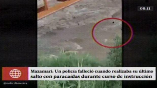 El policía fue arrastrado por varios kilómetros por la corriente del río de Junín en el que cayó. (Video: América TV)