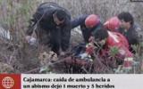 Cajamarca: ambulancia con gestantes cayó a abismo de 100 metros