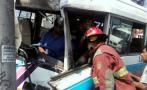 La Molina: diez heridos tras choque de coaster en Javier Prado