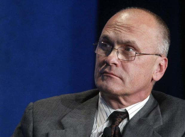 Andrew Puzder, CEO of CKE Restaurants, takes part in a panel discussion titled