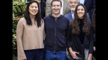 Antonella Masini reunida con científicos en casa de Zuckerberg