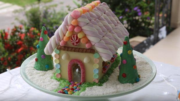 YouTube: aprende a hacer casita navideña de chocolate blanco