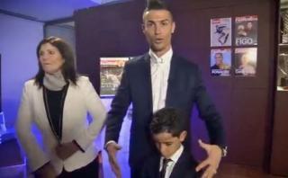 Cristiano Ronaldo repitió su grito al ganar Balón de Oro 2016