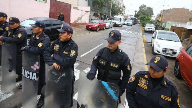 Solo cinco distritos de Lima cuentan con suficientes policías