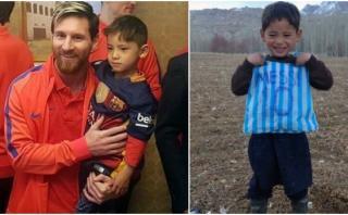 Niño que hizo camiseta de plástico de Messi conoció a su ídolo