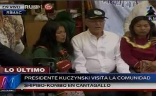PPK garantiza que shipibos se quedarán en Cantagallo