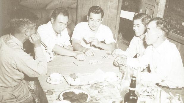 Jugadores de naipes en Punizas. (Foto: