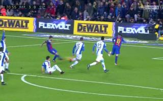 Otra vez Messi: Alba marcó luego de grandiosa jugada del '10'
