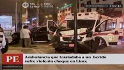 Lince: ex presidente del CNM chocó a ambulancia de los bomberos