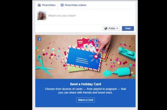 Facebook: así puedes crear una hermosa tarjeta de Navidad