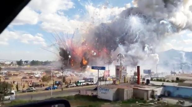 México: Explosión en mercado de pirotecnia deja 29 muertos