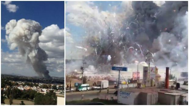 México: Videos de la explosión en el mercado de pirotécnicos