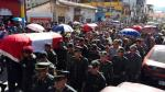 Apurímac: 3 policías fueron enterrados en cementerio de Abancay - Noticias de david mamani