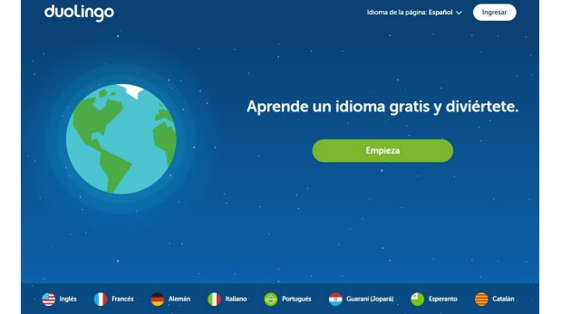 La plataforma Duolingo cuenta con una variedad de idiomas disponibles y tiene habilitada su página en español.