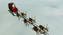 El trayecto de Papá Noel al entregar regalos por todo el mundo