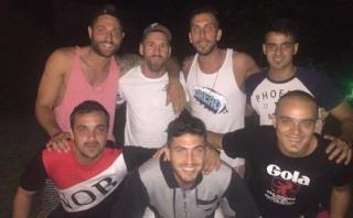 Lionel Messi se reunió con su promoción de Newell's Old Boys