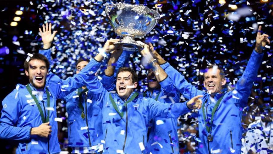 Copa Davis: la emocionante celebración que vivió la Argentina