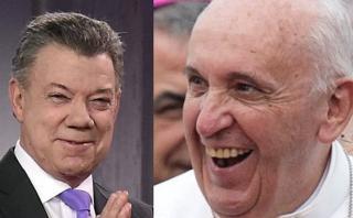 """Colombia: Santos agradece al Papa por llamado a la """"concordia"""""""