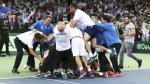 Copa Davis: la emocionante celebración que vivió la Argentina - Noticias de federico delbonis