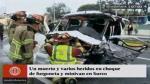 Panamericana Sur: un muerto y 7 heridos en triple choque - Noticias de clinica san juan
