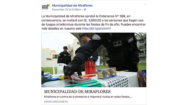 [Foto] Se dan las primeras sanciones por venta de pirotecnia