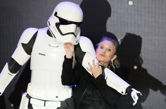 Carrie Fisher y otras figuras del espectáculo partieron en 2016