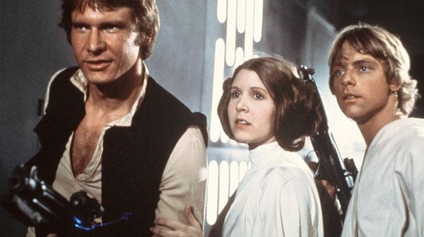 Carrie Fisher personificando a Leia. Sus imágenes se pueden ver en YouTube. (AP)