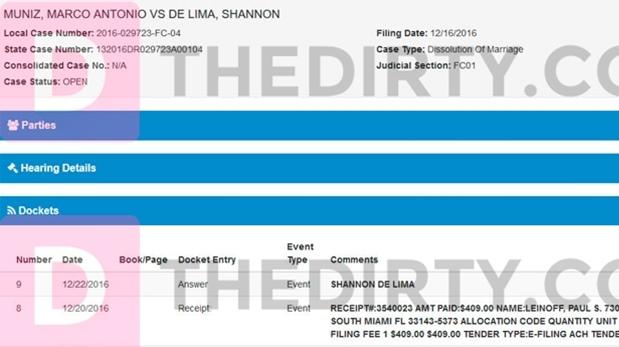 Demanda de divorcio obtenida por TheDirty.com. Foto: (thedirty.com)