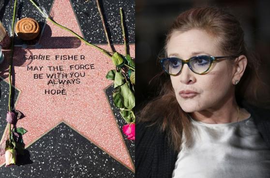 Carrie Fisher: fanáticos le crean estrella en Paseo de la Fama