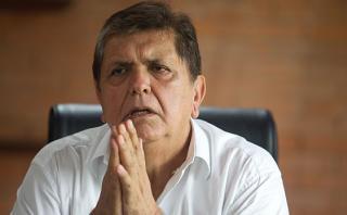 Alan García: disponen abrir indagación preliminar por lavado