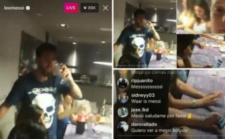 Messi: sobrino tomó su celular y transmitió en vivo una cena