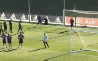 """Cristiano anotó en práctica y todo el público gritó """"¡Siuuuuh!"""""""