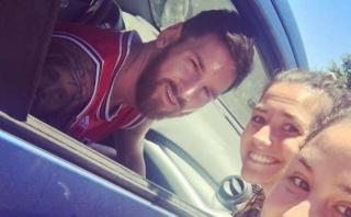 Messi: la reacción de una chica al encontrarlo en la calle