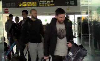 Messi, Neymar y Suárez regresaron a Barcelona tras vacaciones