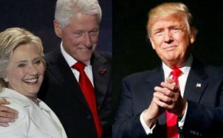 Los Clinton y Bush asistirán a la investidura de Trump