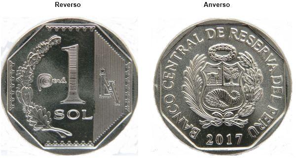 Al centro del reverso de la moneda, también se ´puede apreciar el logotipo de la Casa Nacional de Moneda sobre un diseño geométrico de líneas verticales. (Foto: BCR)
