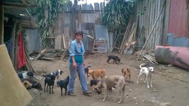 Gladys Ilich en su albergue La creación de Dios, ubicado en la ciudad de Tarapoto.
