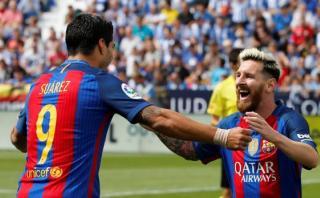 Messi y Suárez completan reto hecho por televisión japonesa