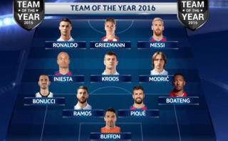 Así jugaría el equipo ideal de la UEFA del 2016 [VIDEO]