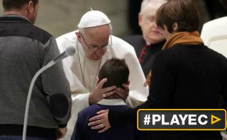 Francisco recibió a miles de víctimas de terremotos en Italia