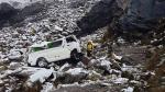 Áncash: PNP confirma ocho muertos por volcadura de combi - Noticias de accidentes de tránsito