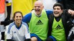 Maradona junto a otras estrellas se divirtieron en amistoso - Noticias de gabriel batistuta